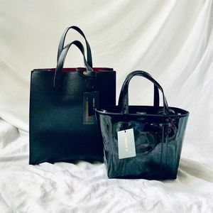 Faux Leather bags (set of 2)